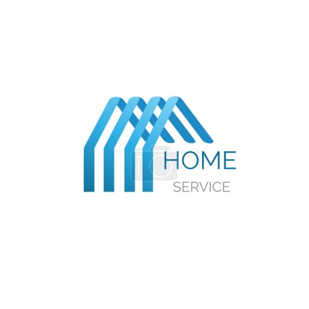 Illustration for Vector house logo for your company. Godd for home service, cleaning, inshurance and other buisiness - Royalty Free Image