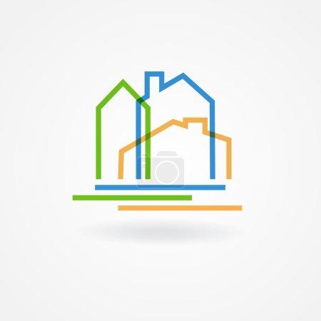 Real estate company logotype.  Vector logo design ...
