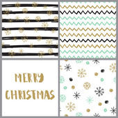 Set of  hand drawn christmas cards in pastel colors Hand Drawn textures made with ink