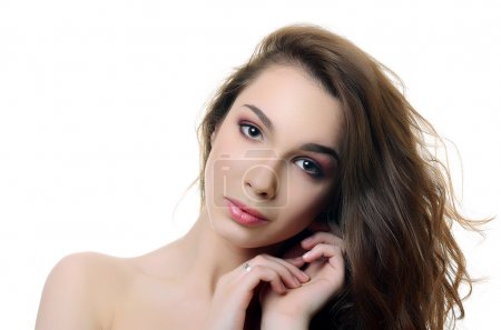 beautiful woman with a professional make-up