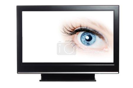TV showing blue eye