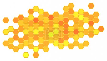 Abstract honeycomb background