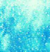 Abstract geometric background consisting of blue triangles