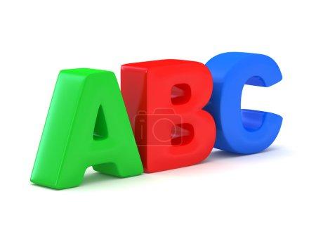 ABC alphabet.
