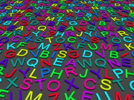 Photo pour Lettres de l'alphabet anglais. fond - image libre de droit