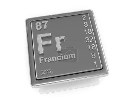 francium. Chemisches Element.