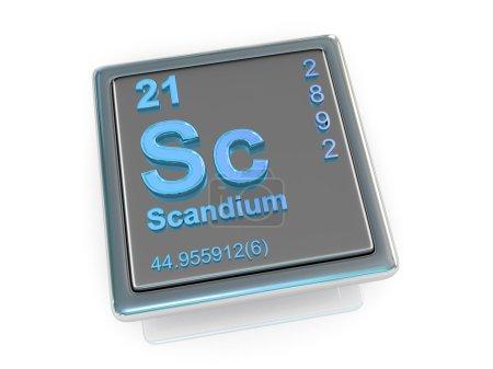 Scandium. Chemical element.