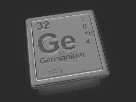 Photo pour Germanium. Élément chimique. 3d - image libre de droit