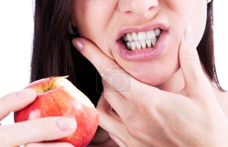 Photo pour Femme avec un mal de dents - image libre de droit