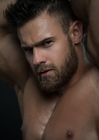 Photo for Muscled male model in studio - Royalty Free Image