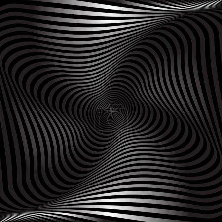 Illustration pour Mouvement de torsion. Résumé fond texturé. Art vectoriel . - image libre de droit