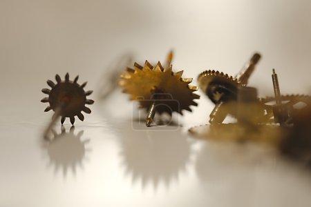 Set of cogwheels of a clocwork