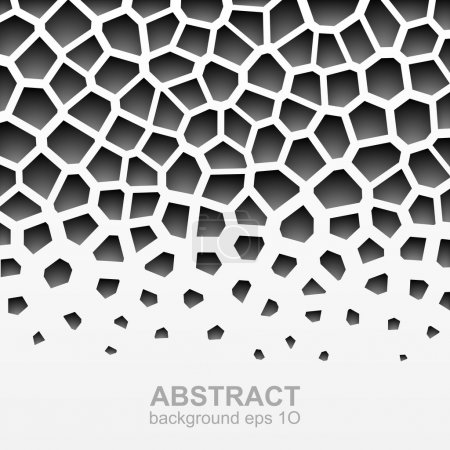 Illustration for Abstract grayscale geometric pattern. Vector illustration - Royalty Free Image