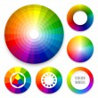 Set of color wheels. Color harmony. Color theory. ...