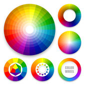 Set of color wheels Color harmony Color theory Multicolored spectral circles
