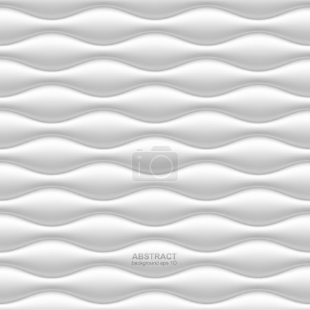 Illustration for White seamless wavy background. Vector illustration - Royalty Free Image