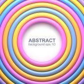 Abstract background with colorful glossy rings Vector illustration