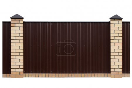 Fence with brick columns.