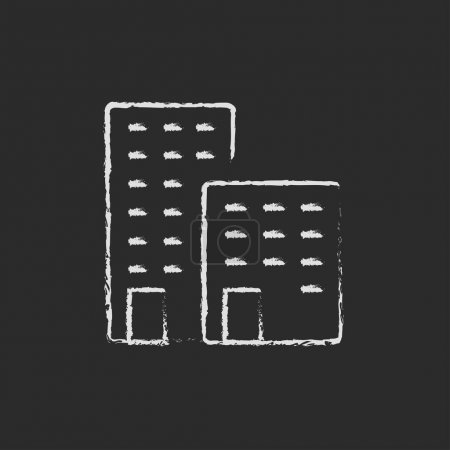 Factory icon drawn in chalk.