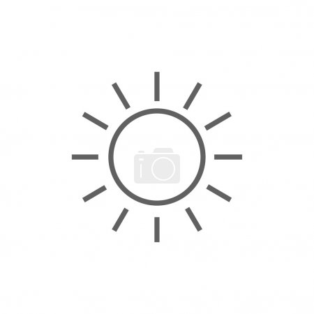 Illustration for Sun thick line icon with pointed corners and edges for web, mobile and infographics. Vector isolated icon. - Royalty Free Image