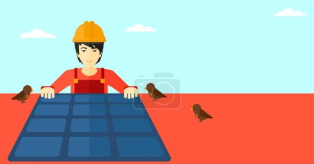 Constructor with solar panel.