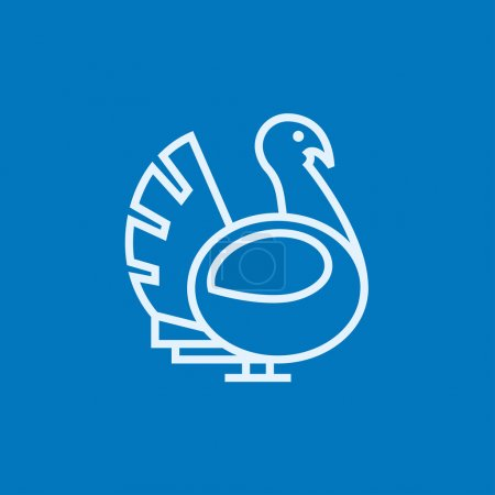 Turkey line icon.