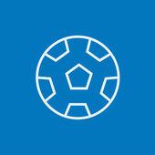 Ikona čáry fotbalový míč