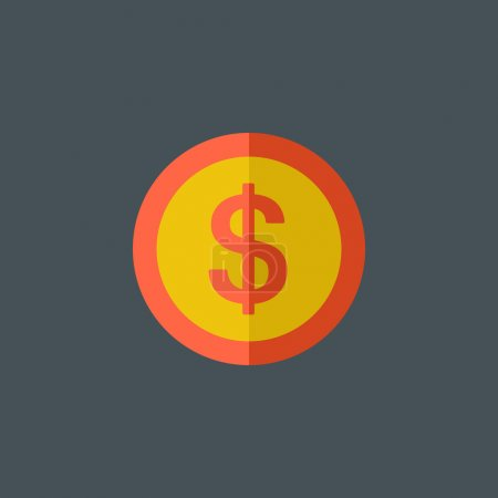 Dollar Sign Flat Icon