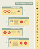 Education Infographic Template Vector Customizable Elements