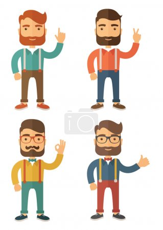Illustration for Hipster. Flat Vector Illustration Isolated on White Background. - Royalty Free Image