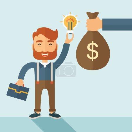Exchange of money in idea.
