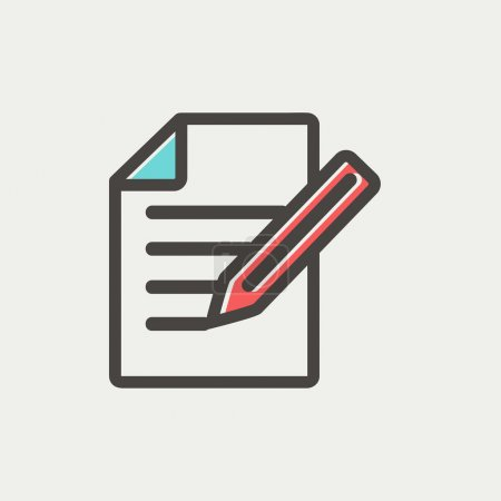 Taking Notes thin line icon
