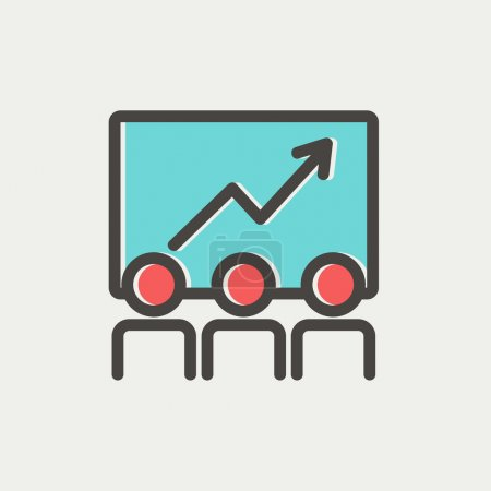 Business growth thin line icon