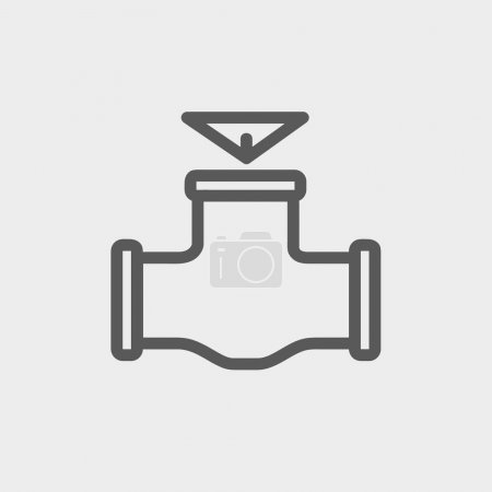 Illustration for Oil pipe icon thin line for web and mobile, modern minimalistic flat design. Vector dark grey icon on light grey background - Royalty Free Image