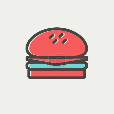 Hamburger thin line icon