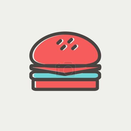 Hamburger thin line icon