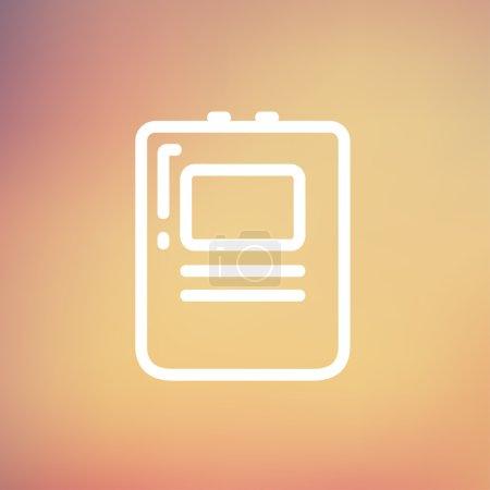 Heart Defibrillator thin line icon