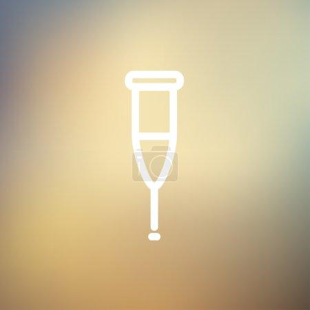 Crutch thin line icon