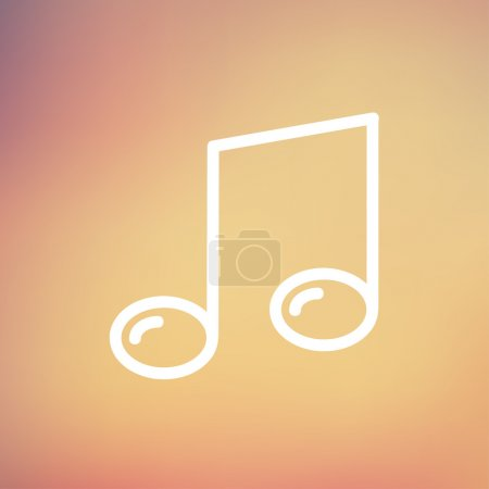 Music note thin line icon