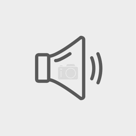 Medium speaker volume thin line icon