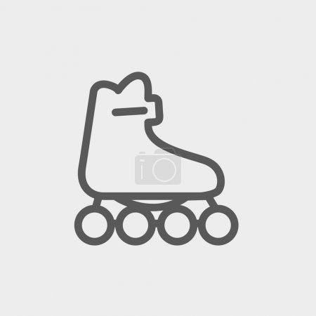 Roller skate thin line icon