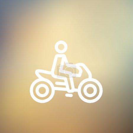 Motorbike thin line icon