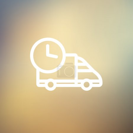 On time delivery thin line icon