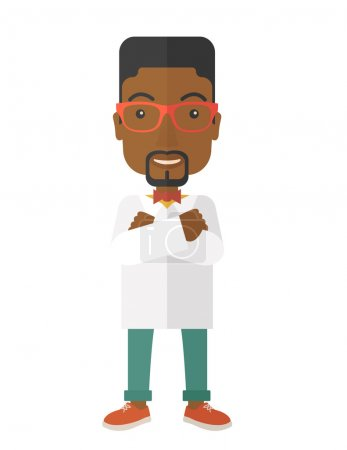A Young handsome african male medicine doctor assi...