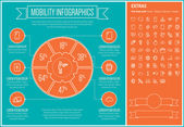 Mobility Line Design Infographic Template