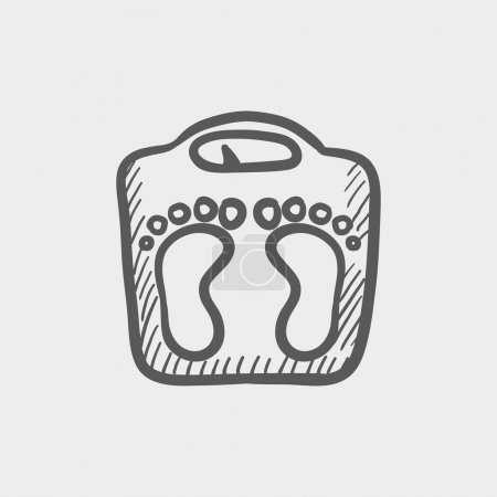Weighing scale sketch icon