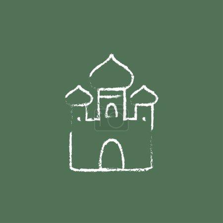Orthodox church icon drawn in chalk.