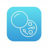 Donor sperm line icon