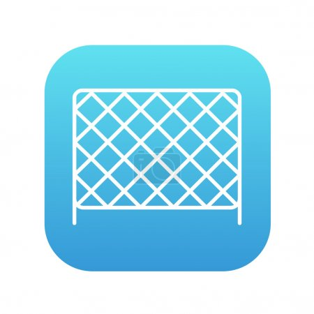 Sports nets line icon.