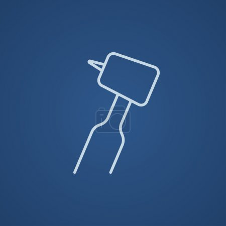 Dental drill line icon.
